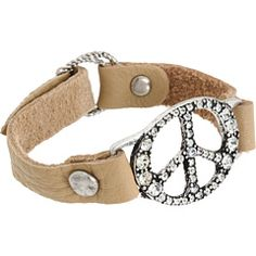 Lucky Brand - Peace Leather Bracelet -- cute, cute, cute.  Lucky has the best and cutest stuff.  Especially peace signs !!!