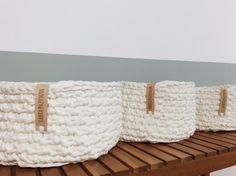 DIY Conjunto de cestas trapillo Tutorial