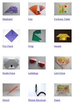 Actividades para Educación Infantil: Origami para niños-as ORIGAMIINSTRUCTIONS