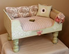 dog bed cat bed Luxury Pet Lounger by designercraftgirl on Etsy, $245.00