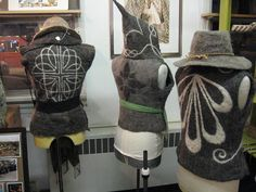 Felt the Sun - Gallery Vests and Jackets      To accommodate different sizes and thickness, finished vests and jackets are priced at $12/oz for total weight, in addition to $20/hr for additional design work. Please contact me for custom orders.