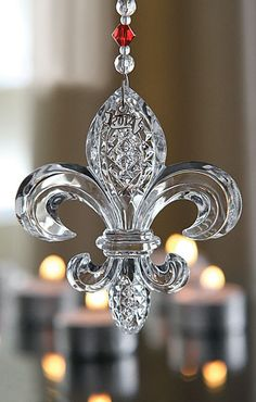 Waterford 2012 Fleur-de-lis Ornament- Crystal Classics ---My daughter bought one for me and I love it~~~