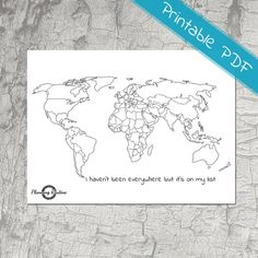 World Planner Stickers, Map of the World, Map of the World Printable, Sticker Printable,Track where you have been with this map of the World. Color every state youve seen and great a colorful map! The stickers are the perfect size for . Gold World Map, World Map Art, World Map Poster, Bullet Journal Voyage, Bullet Journal Travel, Planner Stickers, Sticker Printable, World Map Printable, World Map Tattoos