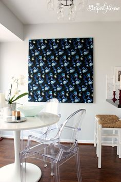 fabric art flowers bold tutorial big