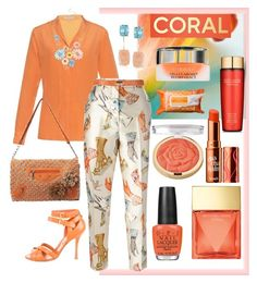 """""""Spring Beauty: Corals"""" by easy-dressing ❤ liked on Polyvore featuring Bottega Veneta, Rochas, Ross-Simons, Mellow World, Mixit, Sergio Rossi, Michael Kors, OPI, Milani and Benefit"""