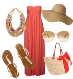 Summer fun I love long dresses and flipy hats