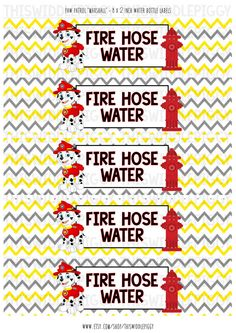 Paw Patrol Water Bottle Labels Printable. by ThisWiddlePiggy