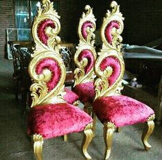 Chaeir poco Create Your Own Furniture, House Of Gold, Throne Chair, Gold Furniture, Color Trends, Teak, Design, Weekend Outfit, Rococo