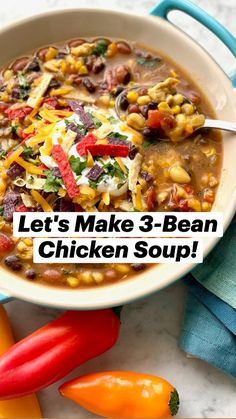 Healthy Soup Recipes, Bean Recipes, Healthy Cooking, Cooking Recipes, Simple Soup Recipes, Easy Healthy Crockpot Recipes, Healthy Winter Recipes, Heart Healthy Soup, Healthy Fall Soups