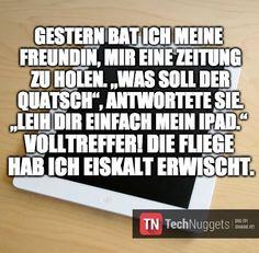 #Technuggets #Witz #iPad #Zeitung