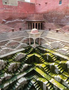 Photos: The Beautiful Architecture of India's Ancient Stepwells - Ancient step well in India. Ancient step well in India. Ancient step well in India. Architecture Antique, Indian Architecture, Beautiful Architecture, Architecture Design, Architecture Sketchbook, Minimalist Architecture, Building Architecture, Architecture Portfolio, Sustainable Architecture