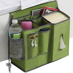 Wow, perfect bed caddy has everything. / http://collegecandy.files.wordpress.com/2011/08/bedside-caddy.jpg
