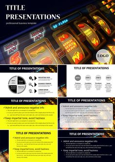 Slot machine casino PowerPoint templates