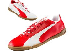 Puma Kids evoSPEED 5.3 Indoor Soccer Shoes - White
