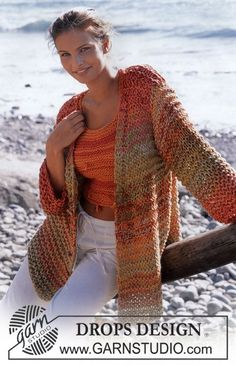 DROPS Cardigan and Top in Paris. Free pattern by DROPS Design.
