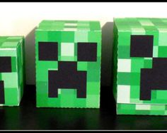 minecraft valentine box | MineCraft Creeper Favor Box