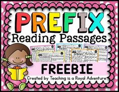 Prefix Reading Passages FREEBIE How it works: -Your choice of using these… 2nd Grade Ela, 4th Grade Writing, Third Grade Reading, Second Grade, Grade 3, Reading Resources, Reading Skills, Teaching Reading, Learning