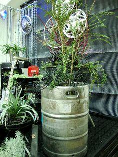 Keg planter! #DeschutesBeer