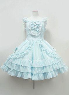 Beautiful Sleeveless Sweet Lolita Dress with lovely Bow