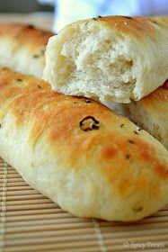 Spicy Treats: Garlic Breadsticks / Bread sticks