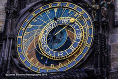 Prague Photography, Prague Wall Decor, Black, Blue, Czech Republic, Gothic Prague, Prague, Prague Prints, Wall Decor, Astronomical Clock
