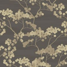 United wallcovering Pattern Names, Chinoiserie, Berries, Asian, Texture, House Styles, Wallpaper, Gallery, Metal