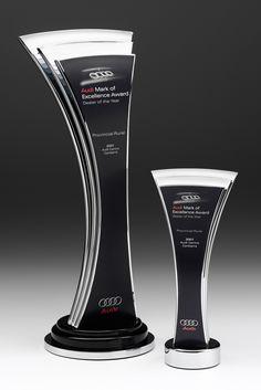 Audi Australia Dealer of the Year Awards | Modern Trophy Design | Design Awards (Modern Bottle Display)