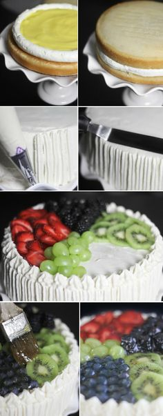 This is a Double layer Swiss Meringue Cake. It is beautiful, and the the best part of this website? It offers proportioned recipes for different sized cakes, even testers!!!