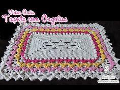 Tapete com Argolas de #crochê - Artes da Desi - YouTube