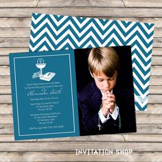 Communion Cup  Grapes Photo Invitations  First by InvitationShop, $1.20