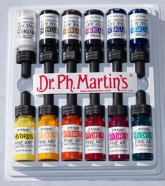 DR PH MARTINS HYDRUS INK 1/2 OZ (15ML) SET #1 - Jacksons Drawing Supplies