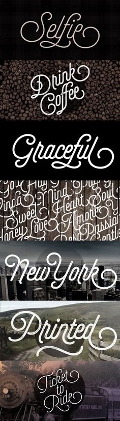 Selfie is a lovely retro script font.