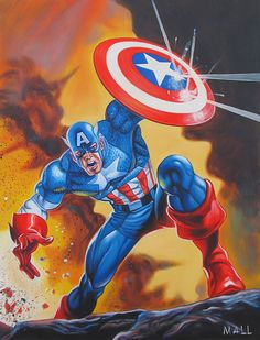 """I've always believed that all you need is one man to make a difference. To stand up when others are told to sit down. To speak loudly for those who have no voice. And to fight the good fight."""" - Captain America"""