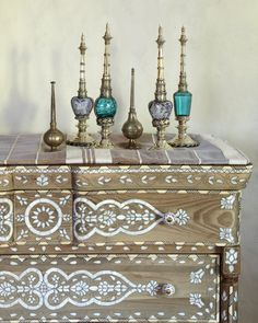 moroccan influence decor | moroccan decor for a modern home cabinet moroccan amp oriental perfume ...