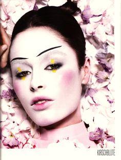 Geisha Makeup Idea  Makeup idea for Geisha costume. Model: Nicole Trunfio for Tush#3 2008 Smell My Memory Photographer: Joachim Baldauf Styling: Marcus Zietz