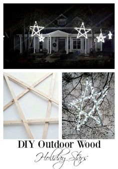 diy outdoor stars. beautiful and magical for the holidays