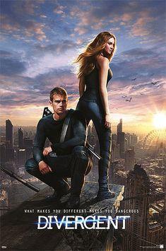 Póster Divergent (Divergente) Póster con la imagen de la portada de la nueva adaptación de la novela de Veronica Roth, en Divergente.