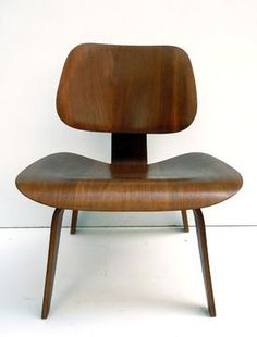 Eames LCW Evans production walnut