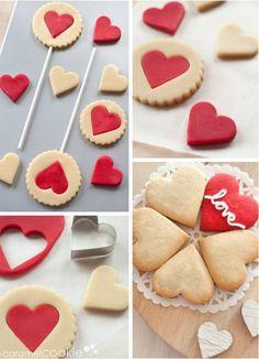 Biscotti a forma di cuore!