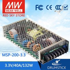 100.64$  Buy here - http://aliy91.worldwells.pw/go.php?t=32776658735 - Hot! MEAN WELL original MSP-200-3.3 3.3V 40A meanwell MSP-200 3.3V 132W Single Output Medical Type Power Supply