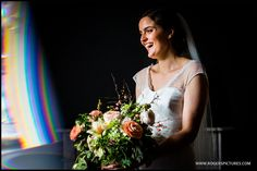 Portrait of Sabine before marrying Andrew at Fetcham Park -