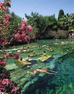 Cleopatra's Pool, Pamukkale, Turkey