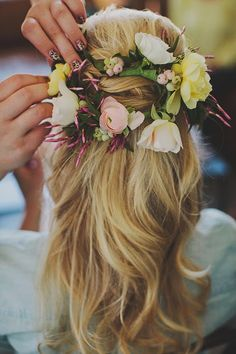 the cinderella project: because every girl deserves a happily ever after: With Flowers in Her Hair