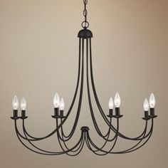 "Quoizel Mirren 32"" Wide Imperial Bronze Chandelier - #3F672   LampsPlus.com spraypaint"