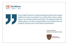 See what other say, VeriShow makes #E-learning easy and accessible. #CoBrowsing   #VideoChat   http://www.verishow.com/testimonials/