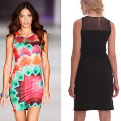 New Summer 2014 Winter Ladies Sexy Mini Bodycon Club Wear Dress Fashion Floral Print Casual Brand Dresses Sleeveless Wholesale  $13.99