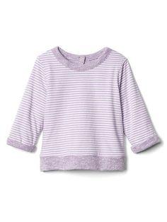 Gap Baby Favorite Reversible Crew Pullover Lilac Surge