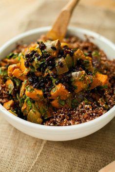 Sweet potato, curry and quinoa