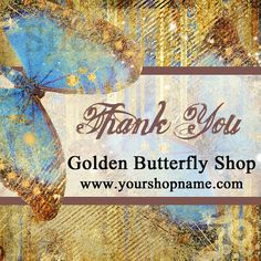 Personalized Golden Butterfly Labels by StickerDivas on Etsy