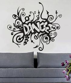 Wall Decal Kids Subway Style Dance Decal Kids Decor Nursery Decal - Custom vinyl wall decals dance